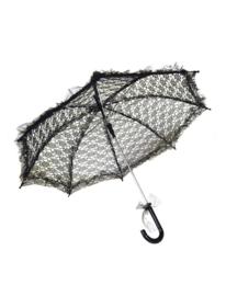 Biedemeier paraplu kant zwart