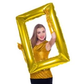 Folieballon selfie frame goud excl.