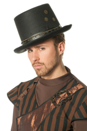 Steampunk hoed klok heer