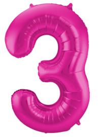 Folieballon 3 magenta