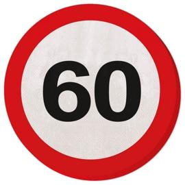 Verkeersbord servetten 60 jaar