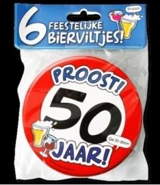 Fun Bierviltjes 50 jaar