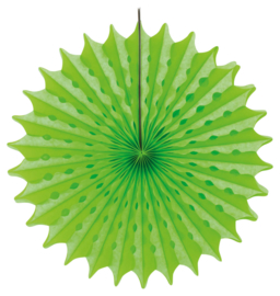 Honeycomb fan neon groen