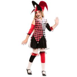 Harlekijn rood meisje