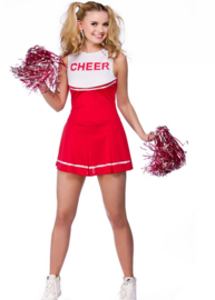 Cheerleader jurkje rood wit