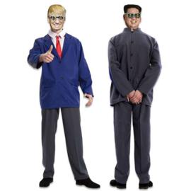 Kostuum double fun trump kim jong-un