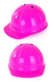 Bouwhelm pink verstelbaar