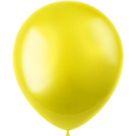 Ballonnen Radiant Zesty Yellow Metallic 33cm - 50 stuks |
