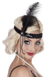 Peaky blinders hoofdband zwart | Flapper