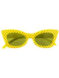 Bril rock 'n roll | fluor geel
