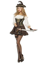 Sexy pirate jurkje bruin