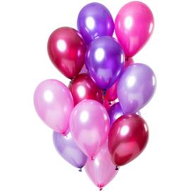 Ballonnen Merry Berry Pink Metallic 15 stuks