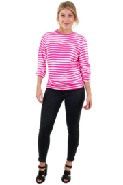 Gestreept shirt roze wit