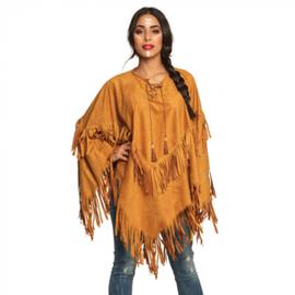 Poncho indiaan bruin