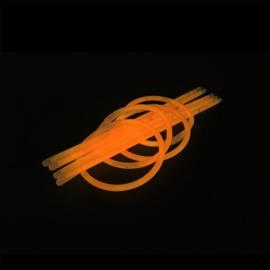 Glow sticks oranje 100 stuks