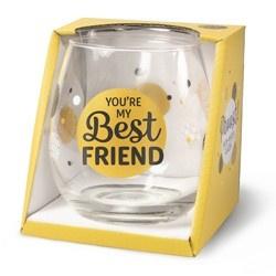 Wijnglas Best friends Proost!