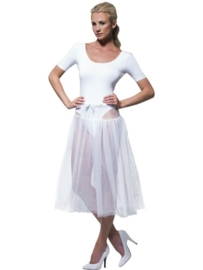 Onderrok petticoat lang wit