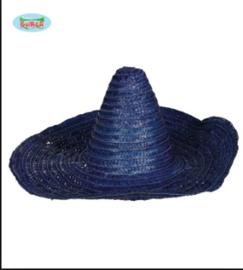 Mexicaanse sombrero blauw