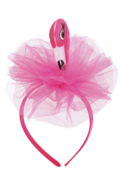 Flamingo diadeem pink strik