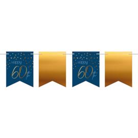 Vlaggenlijn Elegance true blue 60 jaar
