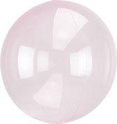 Folieballon Clearz lichtroze (40cm)