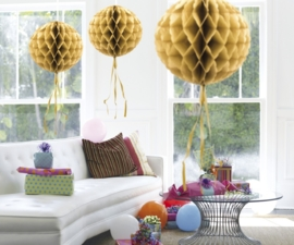 Honeycomb deco goud