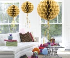 Honeycomb deco goud