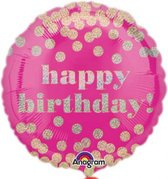 Folieballon Happy Birthday dotty (43cm)