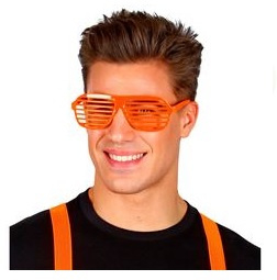 Lamellen bril neon oranje
