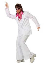 Disco fever kostuum wit