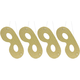 Oogmasker goud 4 stuks