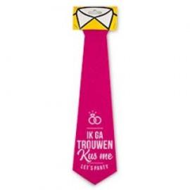 Fun stropdas trouwen kus me