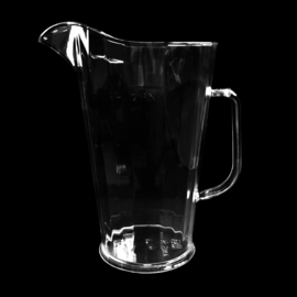 Kunststof pitcher Schenkkan 1,1l transparant