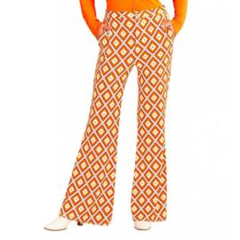 Groovy 70's  dames broek ruit