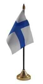 Tafelvlag Finland zwart