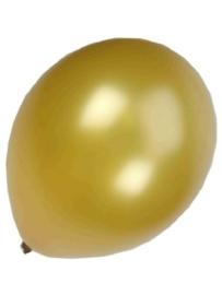 Kwaliteitsballon metallic goud 100 stuks