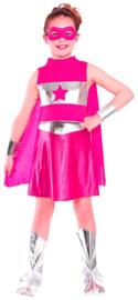 Super helden kostuum - Pink