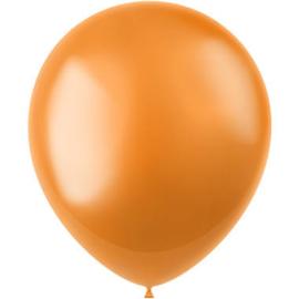 Ballonnen Radiant Marigold Orange Metallic 33cm - 50 stuks |