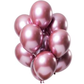 Ballonnen spiegel effect pink 10 stuks