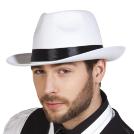 Maffia hoed wit