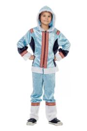 Eskimo kostuum jongen blauw