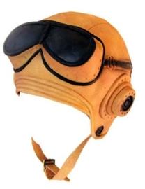 Piloten hoofddeksel met bril