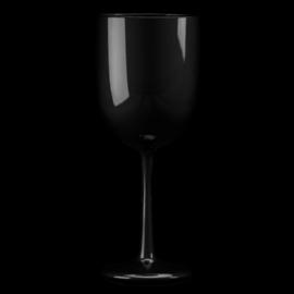 Wijnglas Kunststof wijnglazen Plastic glazen Zwart  48cl 6 stuks  