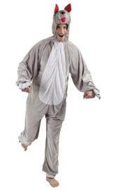 Wolven kostuum plushe