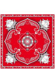 Zakdoek rood bloemen
