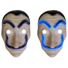 Salvador Dali maskers met licht