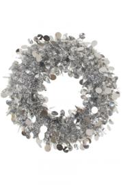 Deurkrans 45 cm Zilver