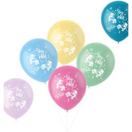 Pastel ballonnen stay wild   33cm / 6 stuks