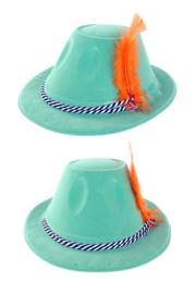 Oktoberfest hoedje met veer Easy