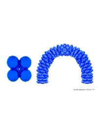 Folieballon blauw rond voor boog 10 stuks